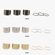 6PCS Design Metal Silver Polished Surface Simple Wide Joints Opening Rings Set HITM #52577(China (Mainland))