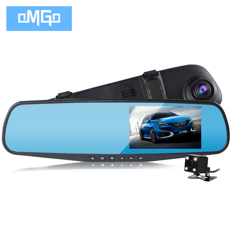 dual lens car camera rearview mirror full hd 1080p night vision auto dvrs cars dvr parking video recorder registrator dash cam(China (Mainland))
