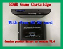 Free Shipping Free 8G SDCard SEGA GENESIS MegaDrive(MD) EDMD Game Cartridge USA Japanese and European game card shell(China (Mainland))