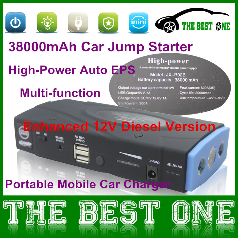 Enhanced 12V Diesel Version Car Jump Starter 38000mAh High-power Portable Dual-USB Emergency Car Battery Charger Full Package(China (Mainland))