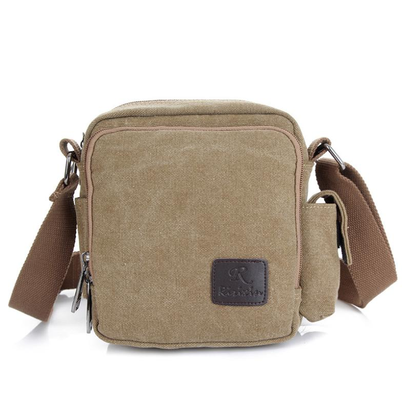 2015 New retro casual male men's shoulder bag Messenger bag canvas bag school shoulder bags wholesale(China (Mainland))