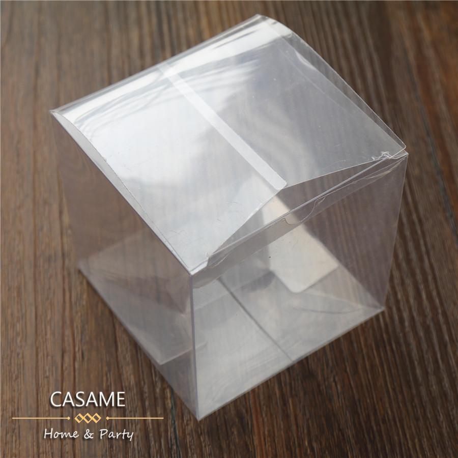100pcs lot wedding party favors boxes clear pvc wedding favor boxes