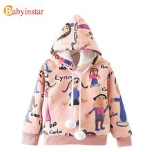New Autumn 2016 Sport Tops Thick Cashmere Sweatshirts Cotton Hoodies Doodle Print Cute Loose kids Pullovers Sweatshirts(China (Mainland))