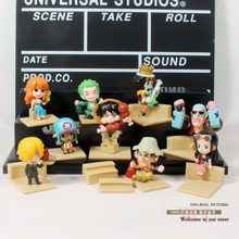 Free Shipping Anime Cartoon One Piece 2 Years Later The New World PVC Action Figure Model Toys Dolls 9pcs/set OPFG175