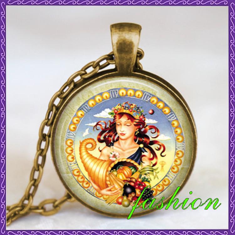 Wholesale Sales Top quality Virgo Zodiac pendant necklace, virgo zodiac astrology art pendant, zodiac gift idea colar feminino(China (Mainland))