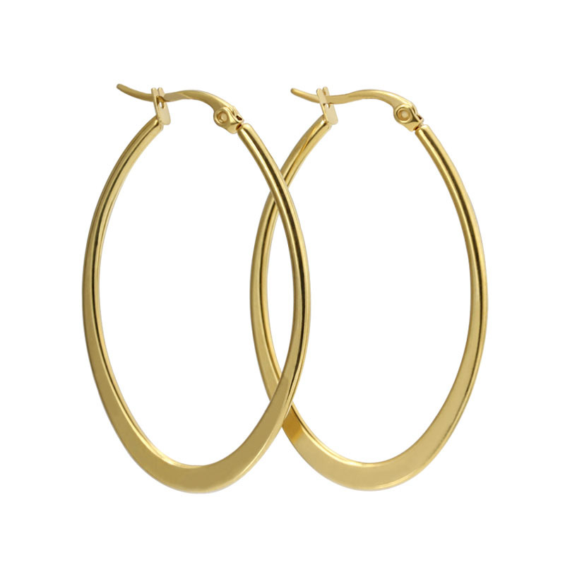 Simple  Hoop Earrings 20mm For Women Circle Loop Hoop Earring Hoop Earrings