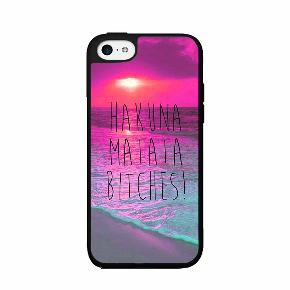 Trendy Hakuna Matata Bitches - PLASTIC Fashion Phone Case Back Cover for iPhone 4 4S, 5 5S 5C ,6 G 6plus 4.7 5.5 inch(China (Mainland))