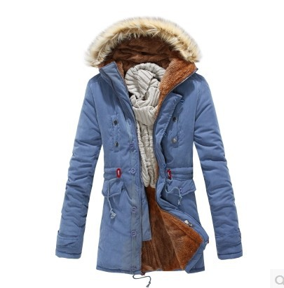 2014 New Brand Russian men winter coats long paragraph lamb wool liner thick padded jacket cotton