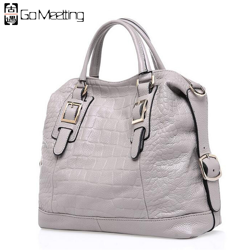 Women Genuine Leather Handbags Fashionable Embossing Alligator First Layer Cowhide Shoulder Bag Crossbody Bags for Ladies WS12(China (Mainland))