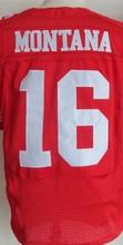 Free shipping Men's 7 Colin Kaepernick 16 Joe Montana 35 Eric Reid 52 Patrick Willis 53 NaVorro Bowman 81 Anquan Boldin jersey(China (Mainland))