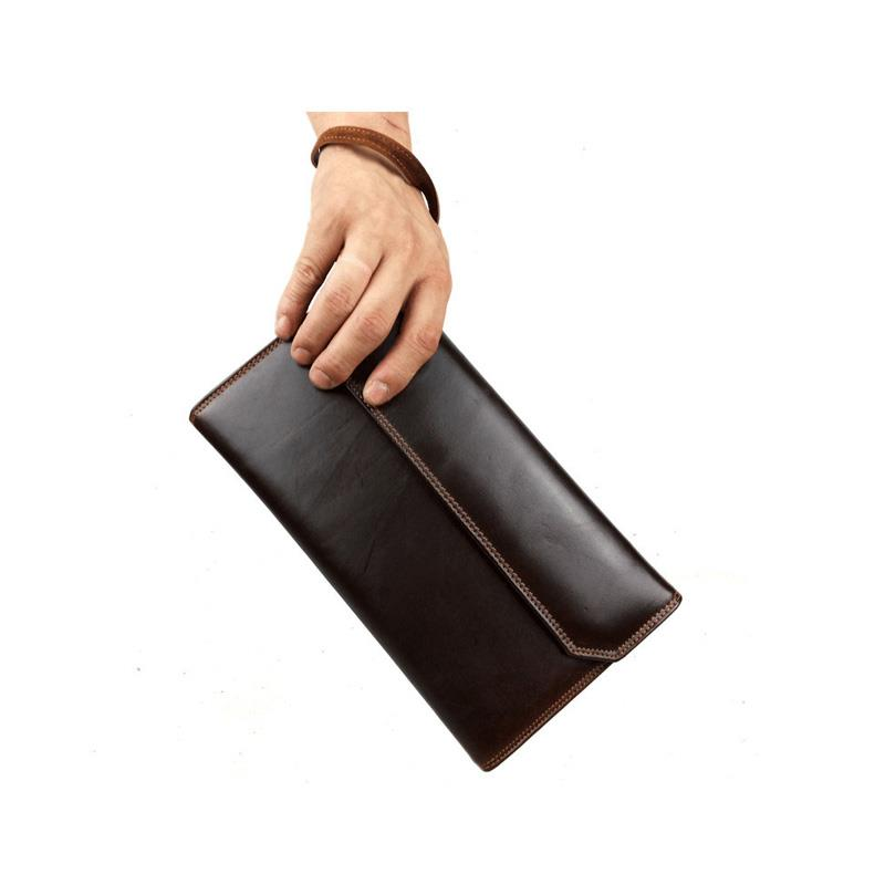 High Quality Brand Vintage Designer 100% Genuine Cowhide Oil Wax Leather Men Long Wallet Wallets Purse Clutches Male Carteira