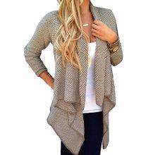 Buy Women Long Sleeve Knitted Sweater Cardigan Open Front Coat Top Outwear N2 for $8.85 in AliExpress store