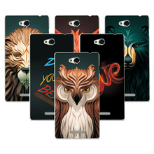 Buy Coque Sony S39h Case Cover Attractive Fashion Lion fox Painting Back Protector Sony Xperia C S39H C2305 C2305 2305 Case for $1.39 in AliExpress store