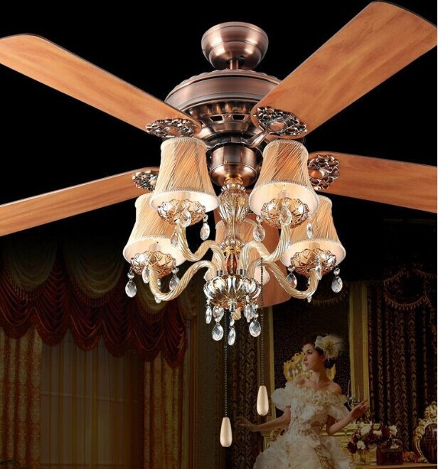 ceiling fan lamp with remote control living room bedroom ceiling fan ...