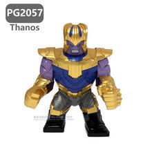 Grande Grande Super hero Endgame 4 Vingadores Marvel Super hero es Hulk Buster Veneno De Ferro Máquina de Guerra Homem Pantera Negra crianças Brinquedos Tijolo(China)