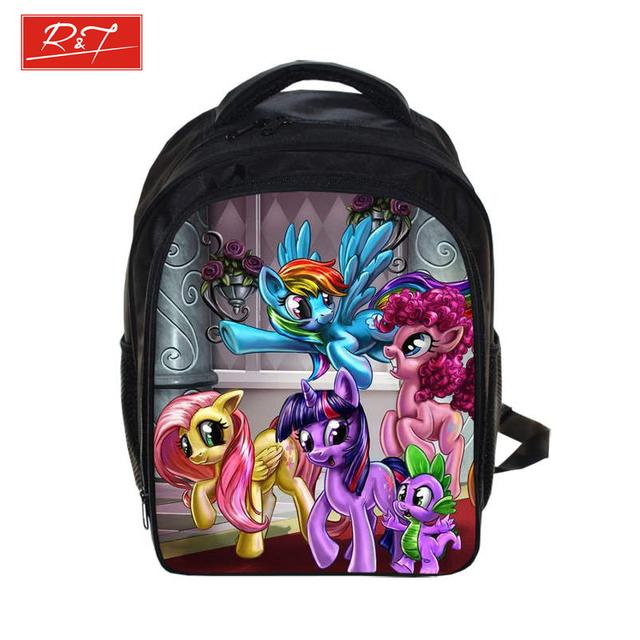 Аниме мой маленький пони рюкзак для девочек детей ежедневно рюкзаки школьные сумки ...