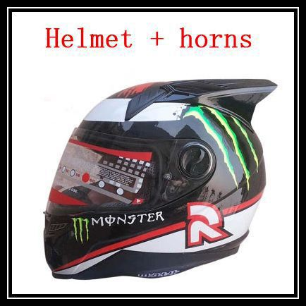 New arrival Brand motorcycle helmet and horns men's full face helmet Kart racing helmet moto casco motociclistas capacete DOT(China (Mainland))