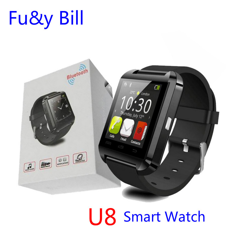 Free shipping New Fashion U8 Bluetooth Smart Watch Mobile Phone Sync Bluetooth Phone Call Step Motion Smart Watch(China (Mainland))