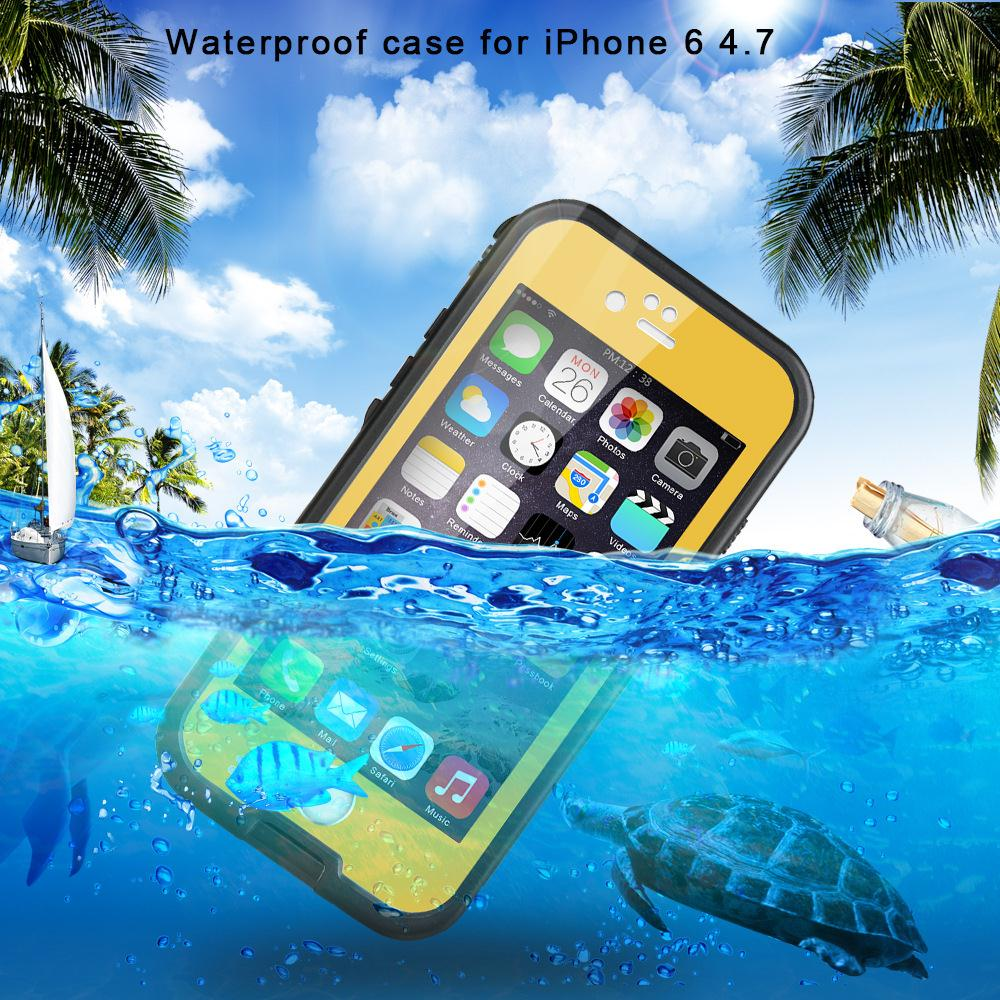 Newest Premium Waterproof Shockproof Dirt Snow Proof Smat Phone Case Cover For iPhone 6 plus 5.5 inch(China (Mainland))