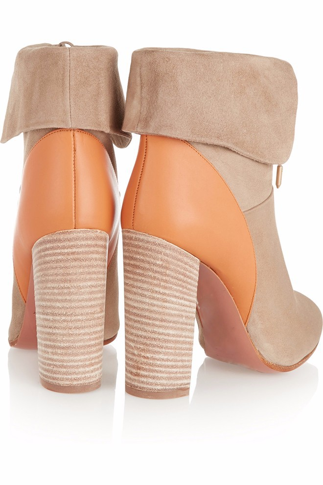 2015New fashion ankle winter boots Women's bright color hit color high heels Comfortable square heel shoes size4-15 women shoes