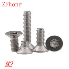 Buy 100PCS M2*3/4/5/6/8/10/12/16/20 A2 Stainless Steel Torx Countersunk head screw screws for $1.31 in AliExpress store