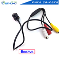 New arrival super small color video camera 600TV 3 7mm lens with audio Line HD Tiny