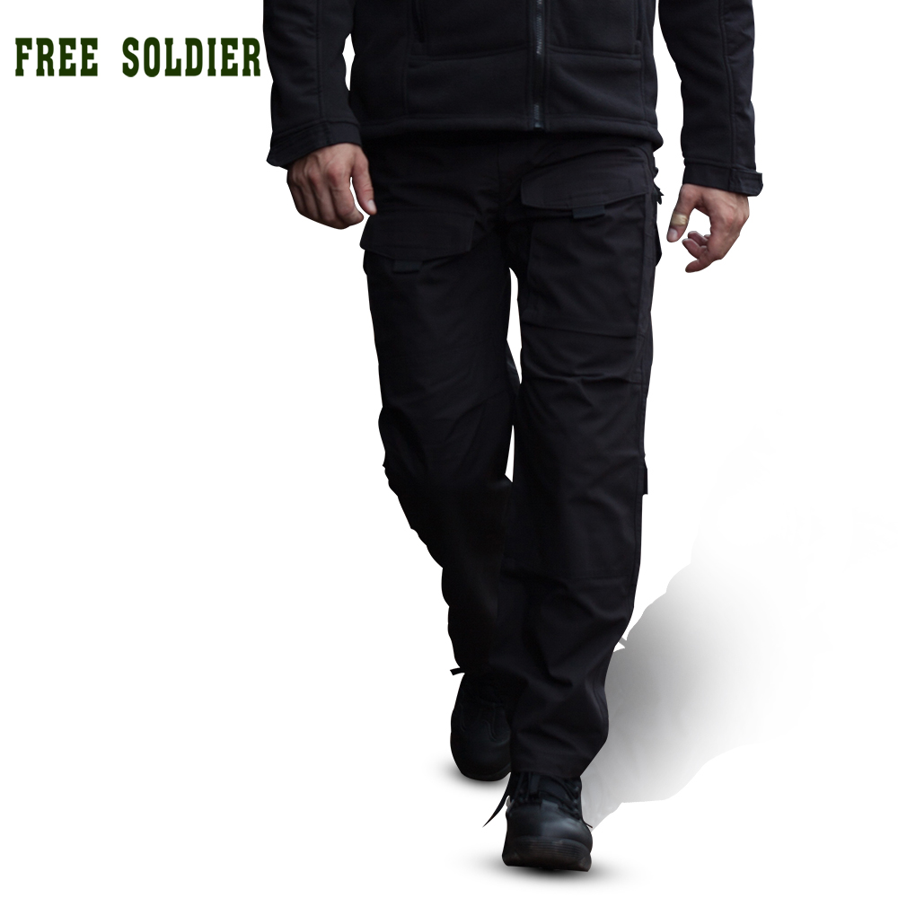 Outdoor camping riding hiking pants tactical pants mountaineering trousers men four seasons multi-pocket YKK zipper FreeSoldier<br>