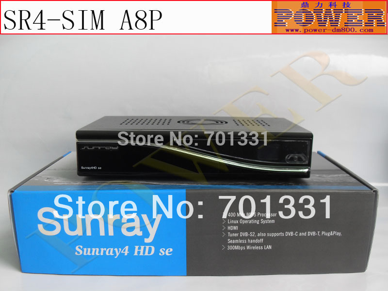 Digital satellite receiver Sunray 800se SR4 with sim A8P and triple tuner DVB - C/S(S2)/T,the digital decoder support Enigma2(China (Mainland))