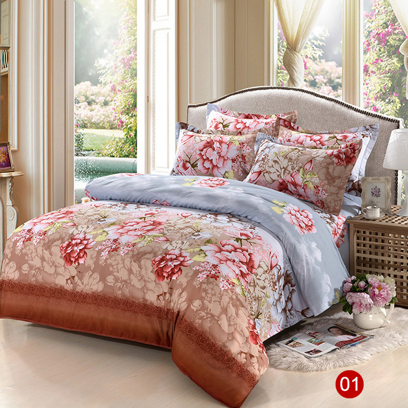 acheter 2015 imprim ensemble de literie mode drap de lit housse de couette taie. Black Bedroom Furniture Sets. Home Design Ideas