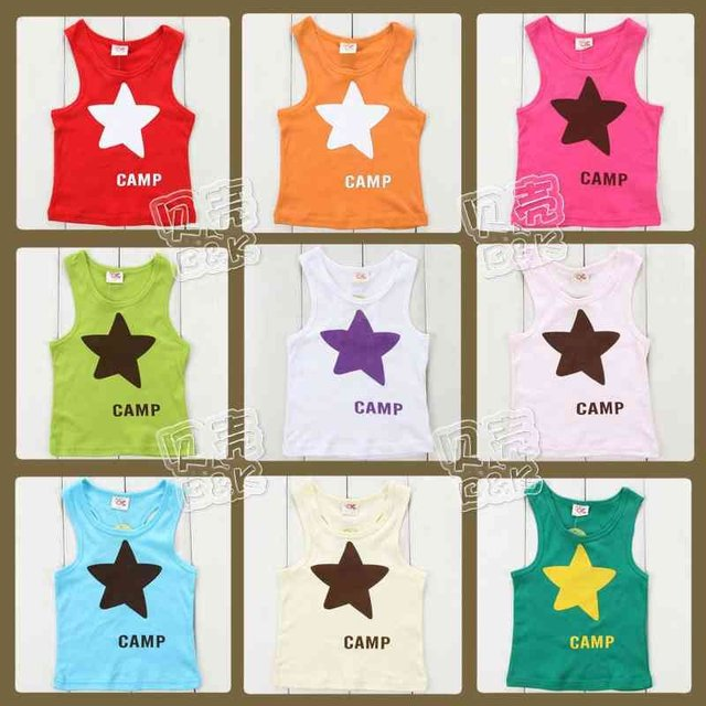 2013 Summer Boys Girls Star Tank Top Size 2T 3T 4 5 6 7