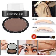 2017 New Professional Eye Brow Tint Makeup Brow Stamp with Eyebrow Enhancer Powder Waterproof Eyebrows Shadow Palette(China (Mainland))