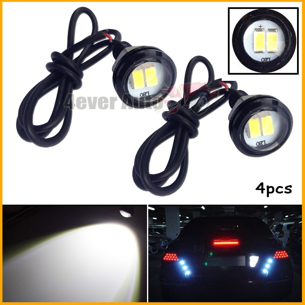 4PCS White 2W 5730-SMD LED Eagle Eye Motorcycle Car Parking Fog Backup Light DRL(China (Mainland))