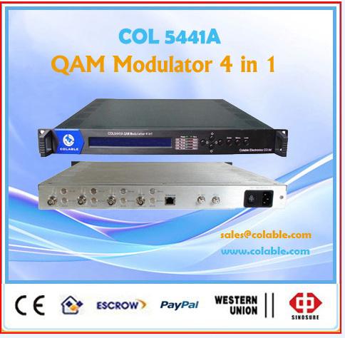 4CH qam modulator,catv dvb-c modulator 4 in 1 COL5441A(China (Mainland))