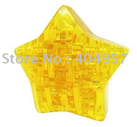 Puzzled 3D Jigsaw -3D puzzle,star puzzle made of Toxic plastic 20pcs/pack with free shipping cost by DHL(China (Mainland))