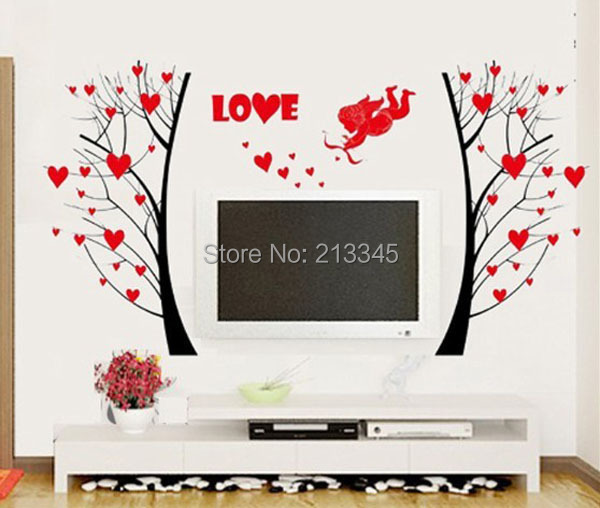 Room marriage bedroom decoration art in wall stickers from home