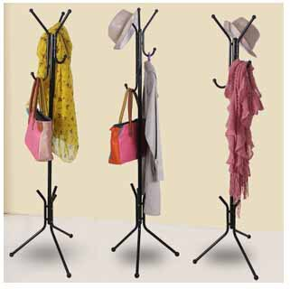 Floor standing coat rack for hanging clothes rack more for Como colgar cortinas con ganchos