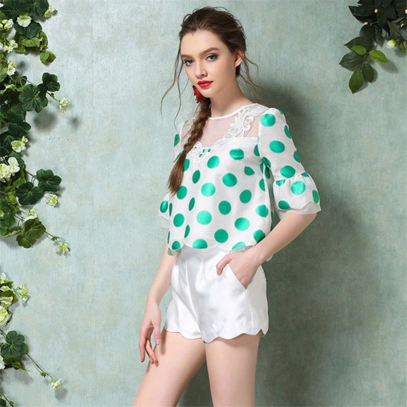 2015 summer style fashion small sweet spot jacket shorts and leisure suit European station big yard temperament two sets(China (Mainland))