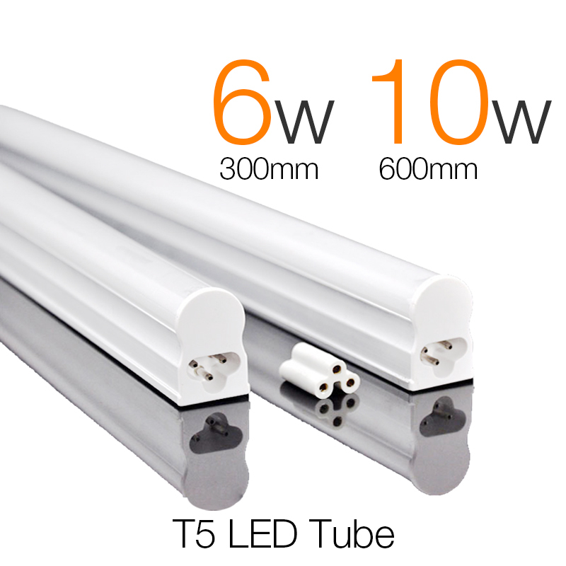 Protective Package T5 LED Tube 300mm 6W 600mm 10W Super Brightness Tubetes T5 Tube Lamp Fluorescent LED Tubes Light AC 165~265V<br><br>Aliexpress
