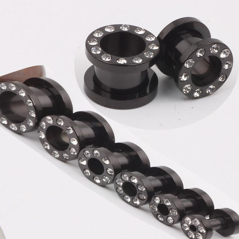 Free shipping F39 mix 3-12mm 200pcs/lot acrylic crystal ear plug tunnel piercing jewelry ear flesh tunnel<br><br>Aliexpress