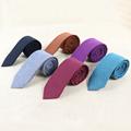 Mantieqingway Skinny Ties For Men Narrow Imitation Wool 6cm Solid Color Corbatas Slim Vestidos Necktie Clothing