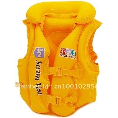 freeshipping intex kid inflatable swimming girl boys vest wet set boy swim jacket Children's luxurious bathing suit