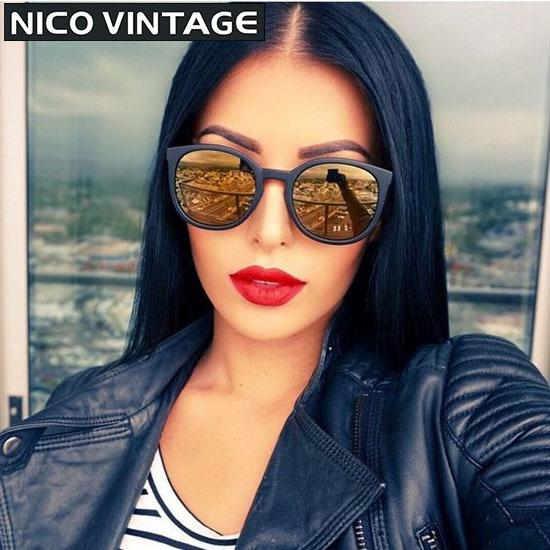 Mirrored Classic Gradient Sunglasses for Women