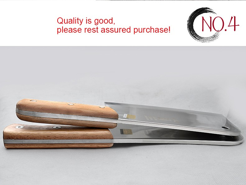 Buy Stainless steel 5 chrome Kitchen Knives Cooking tools dual slicing vegetable / chopping /chinese cleaver / chef / fruit cutter cheap