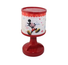 Cute Mickey Mouse LED Auto Color Change Projection Lamp Night Light Bed Room Table Desk Light Christmas Birthday Gift