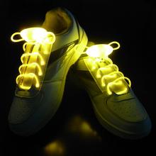 Long Bright Flash Slow Flash Waterproof LED Shoelace Orange (1-Pair)(China (Mainland))