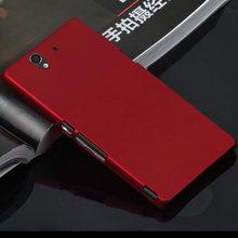 Для Sony Xperia Z L36H C6603 красочный матовый матовый мобильный телефон чехол обложка гибрид жесткого пластика задняя чехол сотовый телефон чехол
