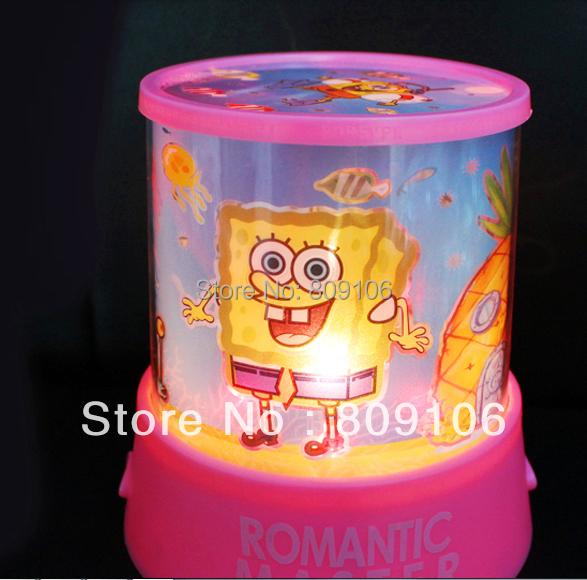 Wholesale ,Free shipping, SpongeBob Star Projector Lamp / night light/Festival Gift(China (Mainland))