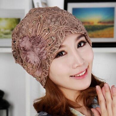 Кружево цветок довольно тюрбан шляпа женщины