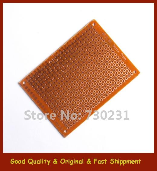 Free Shipping 2Pcs 5 * 7 cm DIY Prototype Paper Single-Side PCB Board Universal Board PCB Kit(China (Mainland))