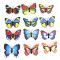 Free shipping 12Pcs Set 8 8 x 7 5 cm Three dimensional wall stickers butterfly for